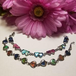 Beautiful VTG Heart Bracelets